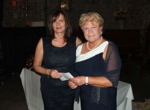 Imelda McLeod receives Clubperson of the Year from Chairperson Imelda McLeod