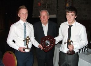 James McAtamney presents Joint Minor POTY to Ronan Delargy and Michael Kelly