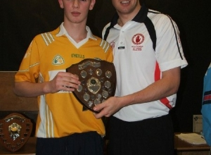 Sean Cavanagh presents U16 POTY to Paul Kane