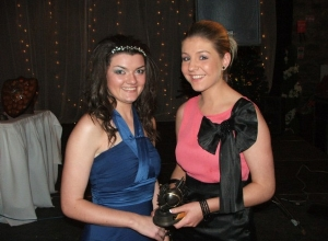 Anna Kelly received U16 POTY from manager Eimear Donaghy
