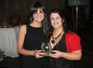Orlagh McMullan receives Junior POTY from manager Urlsa Hasson