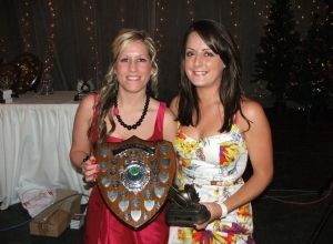 Brenda Clarke receives Senior POTY from Siobhan Grant