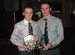Niall Delargy receives U16 POTY from Michael McCann