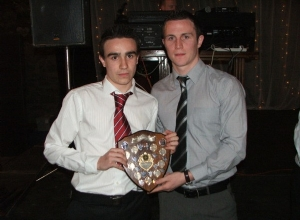 Dermot Magill receives Minor POTY from Michael McCann