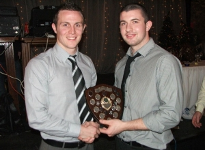 Peter McAleese receives Reserve POTY from Michael McCann